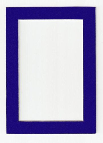 navy blue acid free picture frame mat 8x10