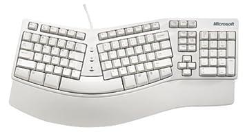 Microsoft Natural Elite Keyboard - Teclado (PS/2, Color blanco, Windows 3.1
