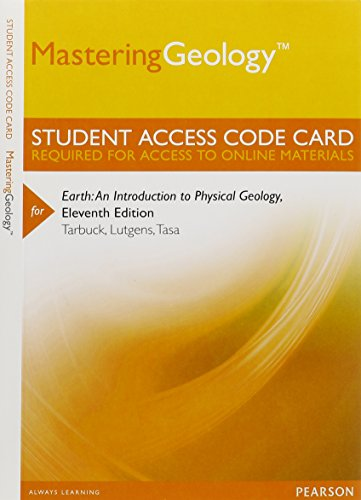 Mastering Geology -- Standalone Access Card -- for Earth: An Introduction to Physical Geology
