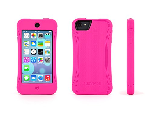 Griffin Survivor Slim Protective iPod Touch (5th/ 6th gen.) Silicone Case - Hot Pink (Ipod Case Survivor)
