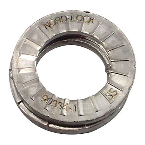 NORD-LOCK 1087 WEDGE LOCK WASHER NL8ss STAINLESS STEEL 8mm id WASHER x 50prs: