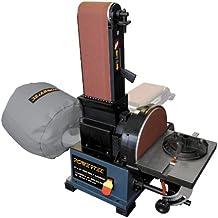 POWERTEC BD4800 Woodworking Belt Disc Sander w/ Built-In Dust Collection, 4 x 8-Inch