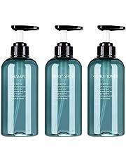 Twinkling Lege pompflessen, kunststof, pompflessen, zeepdispenser, make-up-flessen, handzeepdispenser, navulbaar, potjes voor lotion, douchegel, handzeep, shampoo, 300 ml / 500 ml