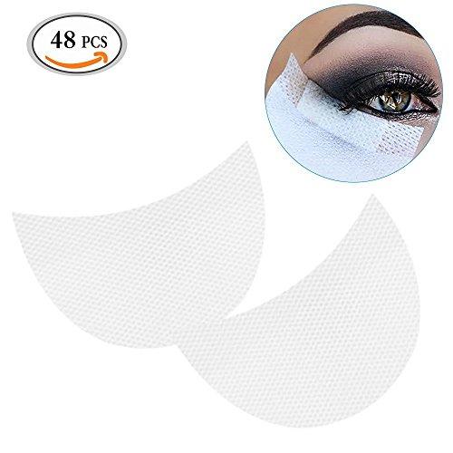 MLMSY Professional 48 Pcs White Color Soft Lint Under Eye Lip Patch Pad Sticker Tapes False Eyelash Eye Lashes Extension Makeup Tool Lip Powder Holder (48 Pcs)