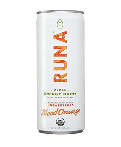 RUNA Clean Energy Guayusa Drink, Blood Orange, 12 Fluid Ounce (Pack of 12)