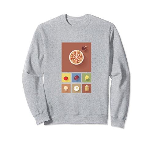 Unisex Metro Pizza sweatshirt Medium Heather Grey - Ladies Metro Twill
