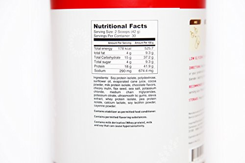 3x Zrii ACHIEVE Mix Soy Protein Isolate with Milk Protein Isolate Dutch Chocolate ( 44.46 ounce ) by Zrii (Image #1)
