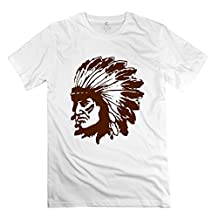 Indian Chief O Neck Men's T Shirt White Size XXL New Arrival By Rahk