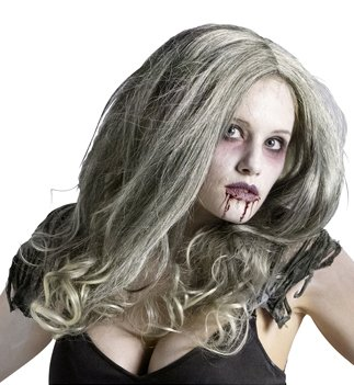 Zombie Queen Wig Costume Accessory -