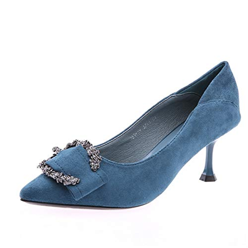 FLYRCX Frauen Frauen Frauen flachen Mund Stilett Mode Temperament High Heel wies Strass mit einzelnen Schuhen B07JYHV25X Tanzschuhe Kaufen 52faeb