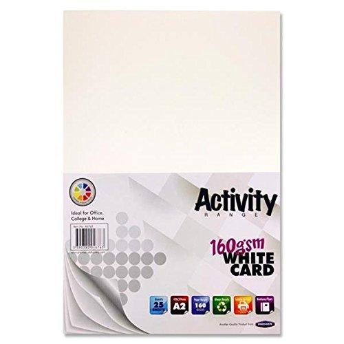 Premier Stationery A2160gsm Aktivität Karte–Weiß (25Stück Blatt) S4546763