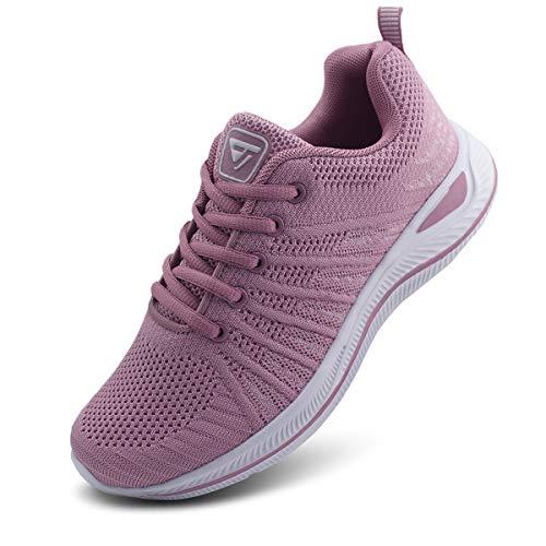 JABASIC Women Lightweight Knit Running Shoes Athletic Walking Sneakers