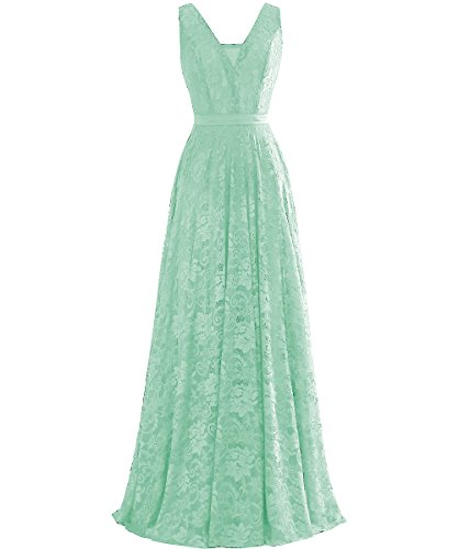 Rueckenfrei Langes Grau Linie V Ballklider ärmellos Gürtel A Grun mit Ausschnitt Spitze Abendkleider Kleid wFUqxwf8g