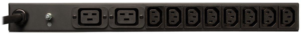 Tripp Lite Basic PDU, 20A, 14 Outlets (2 C19 & 12 C13), 208/240V, L6-20P, 208/240V Input, 15 ft. Cord, 1U Rack-Mount Power (PDUH20HVL6)