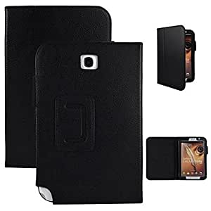 TOPQQ Angibabe Litchi Pattern Leather Case with Dormancy Sleep Function for Samsung Galaxy Note 8.0 N5100 , Black