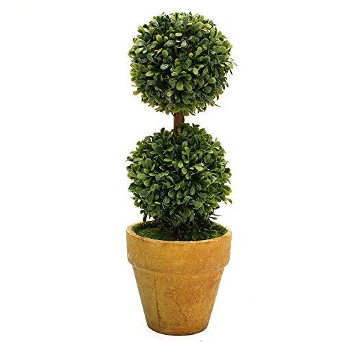 Solarphoenix-bonsai Wedding Arrangement Artificial Garden Grass Buxus Balls Boxwood Topiary Landscape Fake Trees Pots Plants,21cm Balls ()