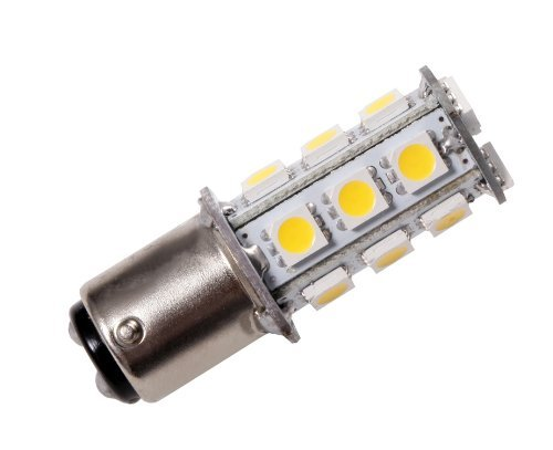 GRV Ba15d 1142 High Bright Car LED Bulb 18-5050SMD AC/DC12V-24V Warm White Pack of 6
