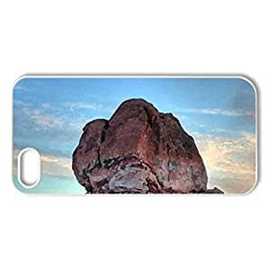 Sunset-Rock - Case Cover for iPhone 5 and 5S (Sunsets Series, Watercolor style, White)