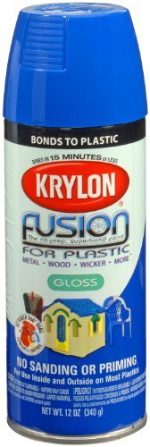 (Krylon K02329000 Fusion For Plastic Aerosol Spray Paint, 12-Ounce, Patriotic Blue by Krylon)