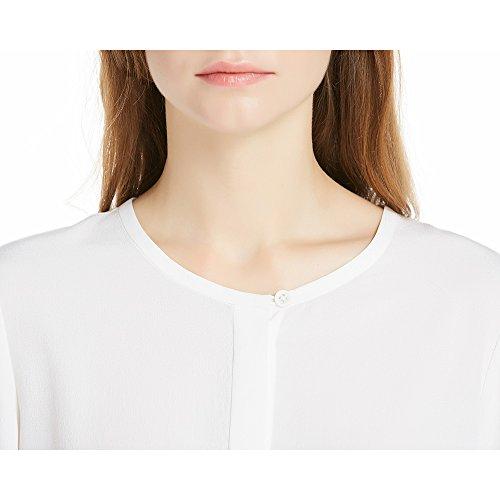 Lilysilk Blusa de Mujer Elegante Camisa de Seda 100% Seda Natural de 18MM Blanco Natural