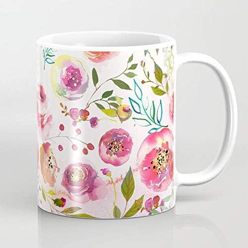 Taza Personalizada flores niña