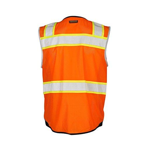ML Kishigo Class 2 Black Series Vest, Orange, Large by ML Kishigo (Image #3)