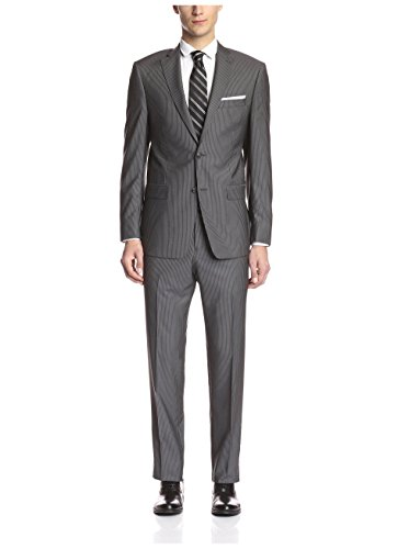 Grey Pinstripe Blazer (Franklin Tailored Men's Pinstripe Suit, Grey,)