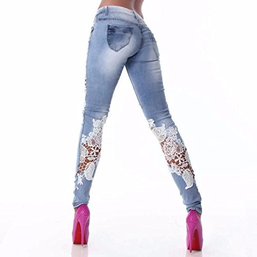 Pantaloni Jeans l Matita Jeans winwintom Donne Lace Della Denim Attillati Stitching In TxPrT7ZwqY