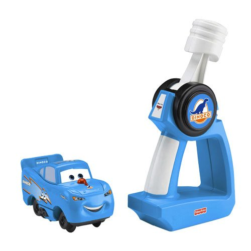 (Fisher-Price Geotrax Pixar Cars RC Dinoco Lightning McQueen)