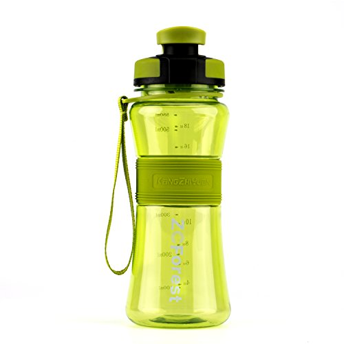ZCForest 18oz 550ml Wide Mouth BPA-Free Portable Travel Sports Water Bottles --Green