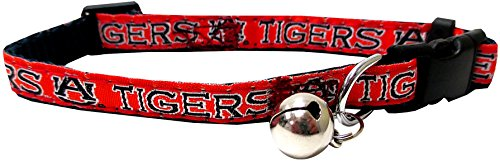 Auburn Tigers Nylon Pet Collar - Pets First Collegiate Pet Accessories, Cat Collar, Auburn Tigers, One Size