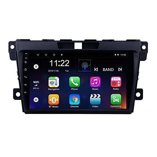 9 inch Android 8.1 2 Din Radio for Mazda CX-7 2007-2014 GPS Navigation Bluetooth with USB SD 1080P Video Audio System - Cx Gps