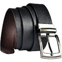 KAEZRI 100% Genuine leather |Italian| Reversible Black|Brown belt for men formal and belts for |boys/Men|