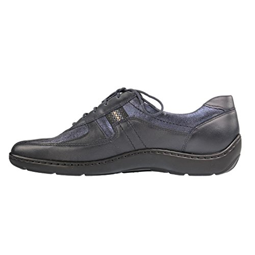 Waldlaufer Navy Womens Henni Shoes 496000 Leather nH6Yq