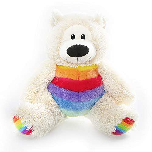 Plushland Adorable Rainbow (Stonewall) The Sophie Bear 12 Inches Cuddly Plush Stuffed Animal Toy for Babies
