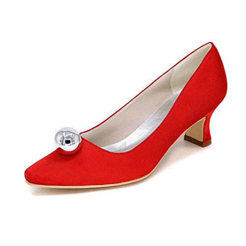 Los Zapatos yc Colores Tacón Boda Variedad 01f Cómodo Señalaron De 0723 Gran Alto La Mujeres Tamaño Red L Personalizado xItwdAA