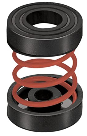 """Mason IMF-X-33 Steel Non Adjustable Spring Mount Vibration Isolator, 33lbs Capacity, 1.1"""" Deflection, 30lbs/in Spring Constant, Red"""