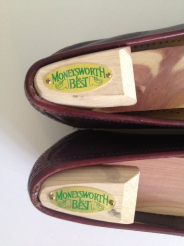 Moneysworth and Best Men's Shoe Trees with Hook Heel (Red Cedar, Large)