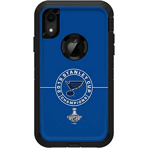 Skinit St. Louis Blues OtterBox Defender iPhone XR Skin - Officially Licensed NHL OtterBox Case Decal - Ultra Thin, Lightweight Vinyl Decal Protection