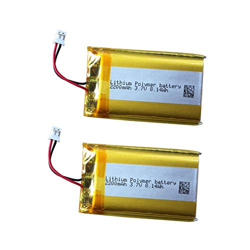 3.7v Lithium Battery 2200mAh for PS4 Controller Battery Replacement LIP1522 Battery Pack w/Big Plug fit for CUH-ZCT1E CUH-ZCT1U - Series Playstation 4 Wireless Controller (LIP1922-B_2 Pack)