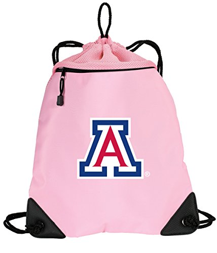 Broad Bay Cute Arizona Wildcats Drawstring Backpack Ladies University of Arizona Cinch Bag - UNIQUE MESH & MICROFIBER by Broad Bay