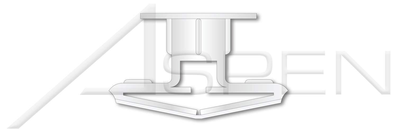 100 pcs 5//8 Plastic Toggle Anchors