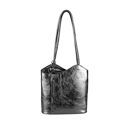 OBC Only-Beautiful-Couture - Bolso al hombro para mujer Rosa altrosa 27x29x8 cm (BxHxT) Gris Oscuro (Metálico)