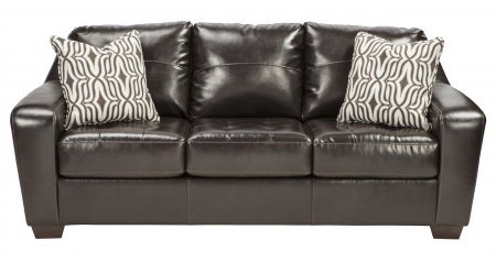 Benchcraft Coppell DuraBlend 5900138 85″ Stationary Sofa with DuraBlend Upholstery 3 Loose Seat Cushions and 2 Pillows in