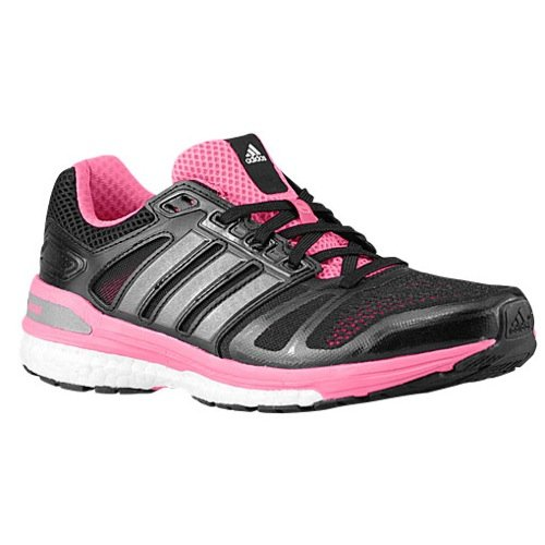 adidas Womens Supernova Sequence 7 Boost, Black/Pink, 6 B