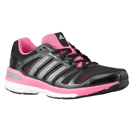 adidas Womens Supernova Sequence 7 Boost, Black/Pink, 6 B