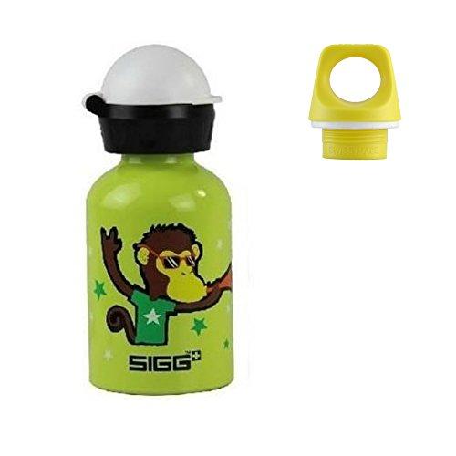 (Sigg .3l Bottle with 2 Caps- Go Team Monkey Elephant)
