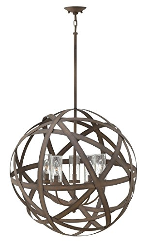 Hinkley 29705VI Contemporary Modern Five Light Outdoor Chandelier from Carson collection in Bronze/Darkfinish