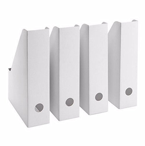 IKEA Magazine Storage Holder File White New 4 Pack FLUNS