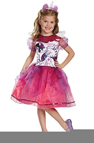 [8eighteen My Little Pony's Twilight Sparkle Deluxe Child Costume] (Little Miss Princess Costume)